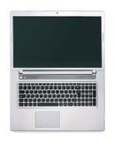 背景膝上型计算机开放白色 免版税库存图片