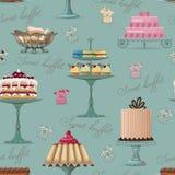 背景自助餐甜点 免版税库存图片