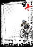 背景自行车山 免版税图库摄影