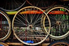 背景自行车车轮 免版税库存照片