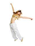 背景舞蹈演员节律唱诵的音乐查出的&# 免版税库存照片