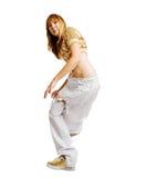 背景舞蹈演员节律唱诵的音乐查出的&# 免版税图库摄影