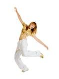 背景舞蹈演员节律唱诵的音乐查出的&# 库存照片