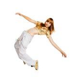 背景舞蹈演员节律唱诵的音乐查出的&# 免版税库存图片