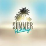 背景节假日热带海报的夏天 免版税库存照片