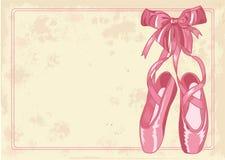 背景芭蕾拖鞋 库存照片