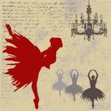 背景芭蕾舞女演员 免版税图库摄影