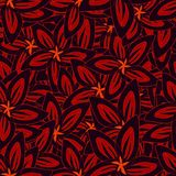 背景花卉例证向量 纺织品和墙纸的无缝的样式 皇族释放例证