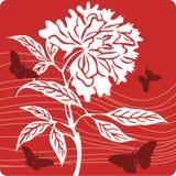 背景花卉例证 库存图片