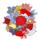 背景花卉叶子 向量例证
