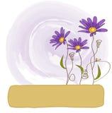 背景花卉向量 皇族释放例证