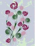 背景花卉向量 免版税图库摄影