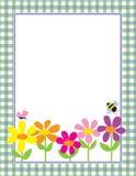 背景花卉方格花布 库存照片