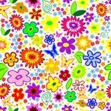 背景花卉无缝的机智 免版税库存照片