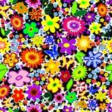 背景花卉无缝的机智 免版税库存图片