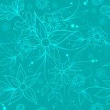 背景花卉无缝 纺织品或墙纸样式 免版税库存照片