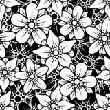 背景花卉无缝 免版税库存照片