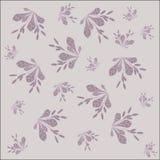 背景花卉样式 伏牛花淡紫色分支与叶子和莓果的在浅紫色的背景 图库摄影