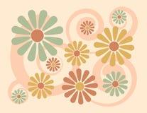 背景花卉桃子 库存照片
