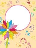 背景花卉框架 免版税图库摄影