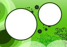 背景花卉框架 库存图片