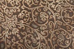 背景花卉皮革模式 免版税库存图片