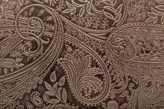 背景花卉皮革模式 库存照片