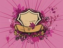 背景花卉盾 图库摄影