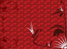 背景花卉红色发光 库存照片