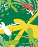 背景花卉草甸 向量例证