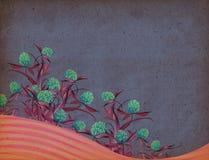 背景花卉葡萄酒 库存图片