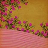 背景花卉葡萄酒 免版税库存照片