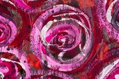 背景花卉被绘的水彩 免版税库存图片