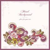 背景花卉装饰样式葡萄酒 皇族释放例证