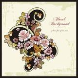背景花卉装饰样式葡萄酒 库存例证