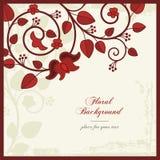背景花卉装饰样式葡萄酒 免版税库存照片