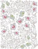 背景花卉轻的兰花 向量例证