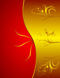背景花卉金黄 向量例证