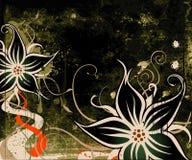 背景花卉grunge 皇族释放例证