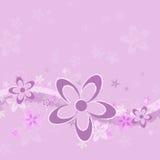 背景花grunge淡紫色 库存图片