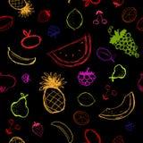 背景莓果无缝的草图 库存图片