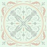 背景葡萄酒花 无缝花卉的模式 抽象wal 免版税图库摄影