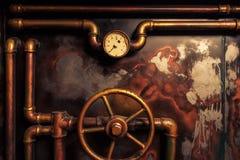 背景葡萄酒steampunk 免版税库存照片