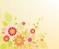 背景蒲公英充分的草甸春天黄色 图库摄影