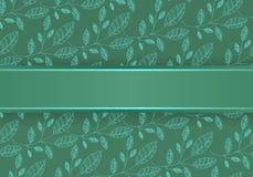 背景蓝绿色叶子 免版税库存照片