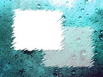 背景蓝色下落水 免版税图库摄影