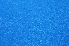 背景蓝色下落水 库存图片