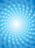 背景蓝色五颜六色的星形向量 库存图片