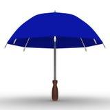 背景蓝色伞白色 免版税库存照片