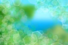 背景蓝色作用绿灯 图库摄影